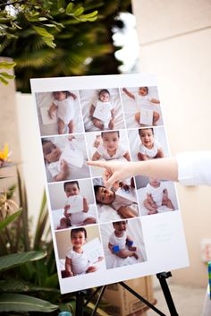 Displaying pictures at 1st Birthday