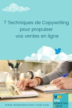 7 Techniques de Copywriting pour propulser vos ventes en ligne #copywriting #copywriter #contentmarketing Le Web, Copywriting, Ecommerce, Storytelling, Blogging, Marketing, Business, Tips, Gentle Parenting