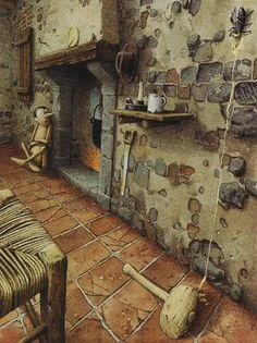 An illustration from The Adventures of Pinocchio by Roberto Innocenti