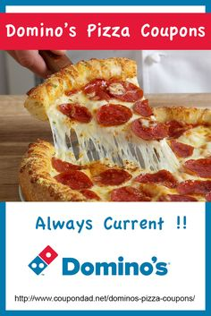 HUGE list of Domino's Pizza coupons and codes!!  Always up to date with the latest coupons.   http://www.coupondad.net/coupons/stores/domino/