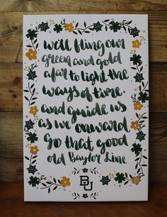 This BU hand painted canvas would look great in any Baylor Bear fan's home! God bless Texas and Baylor University!