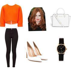 Orange, White.