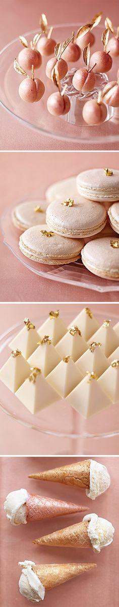 Peach Metallic desserts: