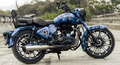 Skyline - Royal Enfield Classic 500cc with camouflage paint | 350CC.com