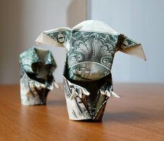 Yoda Money Origami