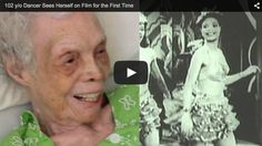 This video is sure to make you smile :). 102 year old watches herself dance in the 1930s & 1940s. Watch her light up.