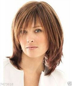 100-Real-hair-New-Quiet-Glamour-Golden-brown-Wigs-Human-Hair-Wig $32.99 ebay