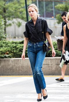 Denim+101:+How+to+Style+Every+Pair+of+Jeans+You+Own+via+@WhoWhatWearUK