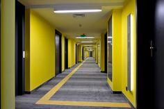 hotel corridor, shaw floors
