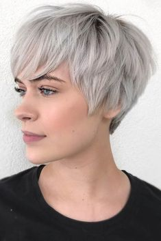 How To Be Cool Woman? Try These Chic Short Pixie Hairstyle Right Now! -- - – short hairstyle design, messy pixie haircut , short pixie haircut for thick hair, super short p - Chaotischer Pixie, Fine Hair Pixie Cut, Pixie Haircut For Round Faces, Pixie Haircut For Thick Hair, Longer Pixie Haircut, Oval Face Haircuts, Edgy Pixie, Short Fine Hair, Messy Pixie Cuts
