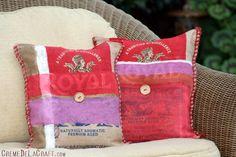 #DIY: Burlap pillows from rice bags