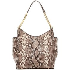 f9092e4d1662 MICHAEL Michael Kors Newbury Snake Embossed Leather Tote Bag ( 180) ❤ liked  on Polyvore