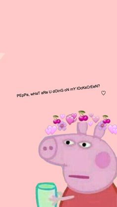 To all those PEpPa meme fans out there🥴 Iphone Lockscreen Wallpaper, Dont Touch My Phone Wallpapers, Cartoon Wallpaper Iphone, Mood Wallpaper, Iphone Wallpaper Tumblr Aesthetic, Cute Wallpaper For Phone, Iphone Background Wallpaper, Cute Disney Wallpaper, Peppa Pig Wallpaper