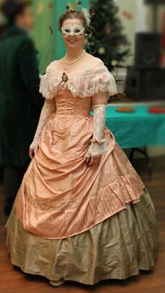 1860s ball gown from Kathelyne's wardrobe