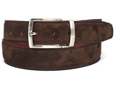 Men's Brown Suede Belt