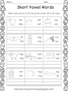 Worksheet Kindergarten Cvc Worksheets cvc worksheets for kindergarten bloggakuten