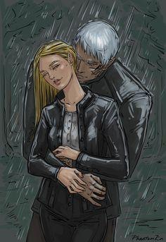 "@phantomrin.tumblr.com: Aelin & Rowan. Rain. (""Empire of Storms"" by @sjmaas) Ahem, too many couples lately -__-"
