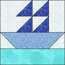 Block of Day for February 16, 2014 - Boat Easy quilt block.