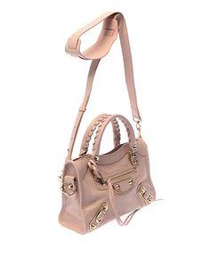 Light-pink, grained leather  Classic Mini City edge-line shoulder bag | Balenciaga | MATCHE...