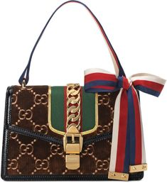 6582f439f21a Gucci Sylvie GG velvet small shoulder bag Gucci Sylvie, Small Shoulder Bag,  World Of