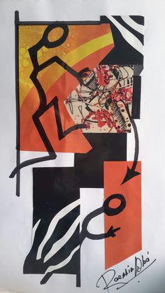 Collage - Tinta - De Rosalia M. Aba - Ros Maba -