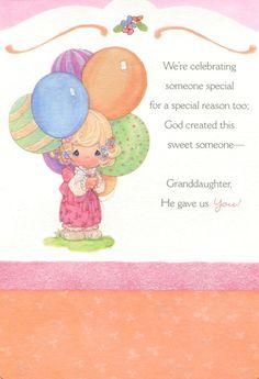 Precious Moments Birthday Best Friend   ... Someone Special (Dayspring 3960-4) Birthday Card - Granddaughter