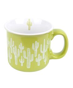 Look at this #zulilyfind! Cactus Ceramic Camp Mug #zulilyfinds