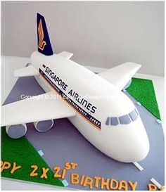 Singapore Airlines Novelty Cake, Novelty Cakes Sydney, Birthday Cakes, Novelty cake designs, Designer Cakes by EliteCakeDesigns Planes Birthday, 21st Birthday Cakes, Fancy Cakes, Cute Cakes, Planes Cake, Airplane Cakes, Rodjendanske Torte, Travel Cake, Cake Designs