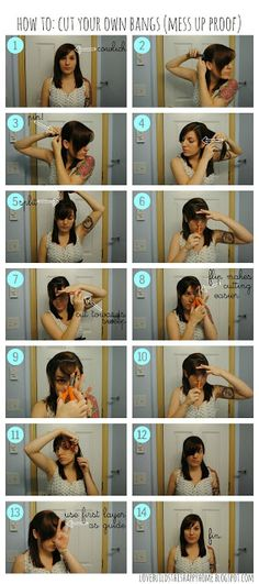 How To: Cut Your Own Bangs (Mess Up Proof) - Love Builds This Happy Home
