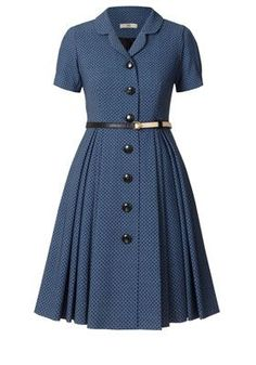 Classic wool shirt dress. Orla Kiely spring 2013