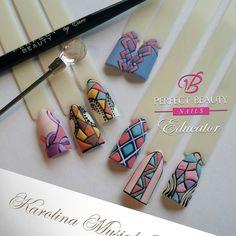 #nailart #nails #gel #handmade #hand #color by karolina_makeup_and_nailart Nail Polish Art, Gel Nail Art, Nail Art Diy, 3d Nails, Pink Nails, Cute Nails, Jasmine Nails, 3d Nail Designs, Abstract Nail Art