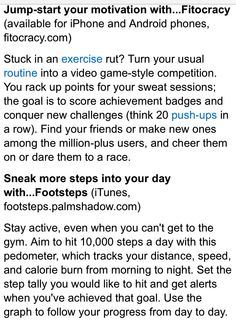 Page 2 apps for exercise and tips to be get health Exercise Apps, Competition, Health And Beauty, Motivation, Tips, Counseling, Inspiration