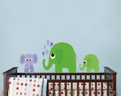 Reusable Elephant Nursery Decals