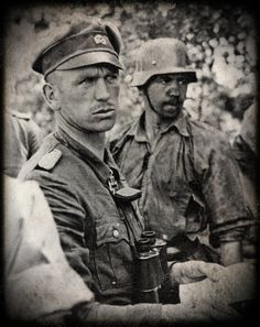 "Waffen SS-Brigadeführer und Generalmajor of the Waffen-SS Kurt ""Panzer"" Meyer-- Kurt Meyer, nicknamed ""Panzermeyer"", (23 December 1910 – 23 December 1961) served as an officer in the Waffen-SS during the Second World War. He saw action in many major battles, including the Invasion of France, Operation Barbarossa, and the Battle of Normandy.Upon promotion on 16 June 1944 at the age of 33 years, 5 months and 25 days Meyer became one of the youngest divisional commanders in the Waffen-SS."