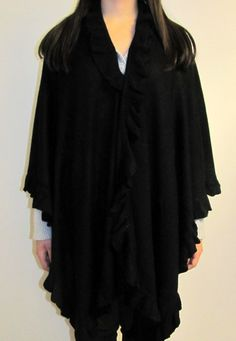 Ruana cape wraps are great for evening wear and day wear. Soft warm with wide coverahe a women's ruana cape wrap is a must have for fall winter & spring.
