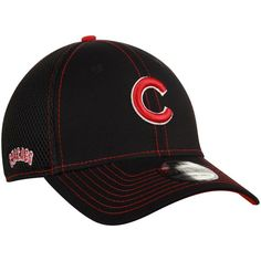 MEN S CHICAGO CUBS NEW ERA BLACK CRUX LINE NEO 39THIRTY FLEX HAT   ChicagoCubs  Cubs  CubsFans  GoCubs  Chicago b8863280654