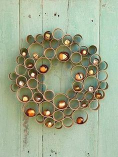 Toilet Paper Roll Crafts Honey Comb Wreath