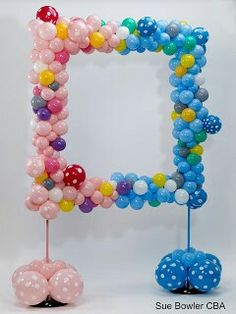Organic boy girl also put some mylar ? balloons and boy girl balloons on it be sure to use clear polka dot double stuffed