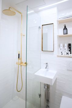 bathroom remodeling is certainly important for your home. Whether you pick the serene bathroom or bathroom renovations, you will make the best serene bathroom for your own life. Serene Bathroom, White Bathroom, Small Bathroom Storage, Bathroom Renovations, Bathrooms, Walk In Closet, Shower, Mirror, House