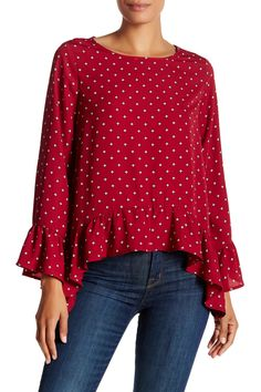 Flutter Trapeze Blouse by Harlowe & Graham on @nordstrom_rack