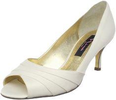 Wedding shoes... add something to jazz them up?    Amazon.com: Nina Women's Criana Open-Toe Pump: Shoes
