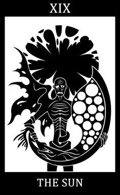 Bloodborne fanart, Bloodborne Tarot Cards.  XIX - The Sun - Orphan of Kos