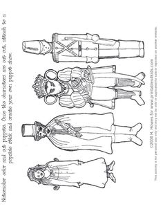 Nutcracker Print and Color Puppets : Printables for Kids – free word search puzzles, coloring pages, and other activities Nutcracker Crafts, Nutcracker Sweet, Nutcracker Christmas, Christmas Art, Christmas Holidays, Nutcracker Ornaments, Xmas, Christmas 2019, Christmas Ornaments