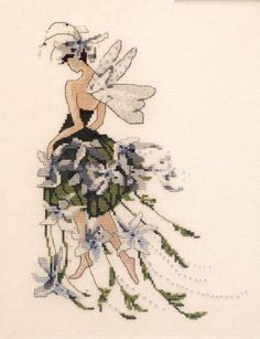 Jasmine - Pixie Couture Collection Cross Stitch Pattern Embroidery Patterns by Nora Corbett Fantasy Cross Stitch, Cross Stitch Fairy, Cross Stitch Angels, Just Cross Stitch, Cross Stitch Kits, Cross Stitch Designs, Cross Stitch Patterns, Cross Stitching, Cross Stitch Embroidery