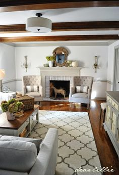 """We Finally Have a Rug! (Our """"Finished"""" Family Room) Rugs USA Satara Edison Nickel Rug."""