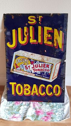 AUCTION ENDS TODAY – Rare Vintage Ogden's St.Julien Tobacco Enamel Sign