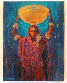 20 Trends Women Painting Back Girl Artist, Landscape Artwork, Mystique, Soul Art, Woman Painting, Indian Art, African Art, Urban Art, Black Art