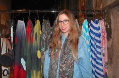 Julie Egli and her scarf designs Scarf Design, Zurich, Blouse, Tops, Women, Fashion, Moda, Fashion Styles, Blouses