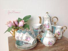 French antique tea set.