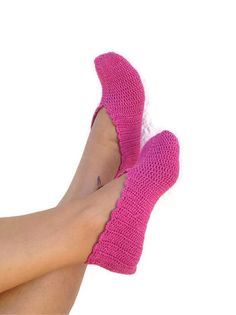 FREE SHiPPiNG Pink Healthy Booties Home slippers by NesrinArt, $21.00